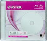 RiTEK M-Disc BD-R 25GB 4x White Inkjet Hub Printable Single Package